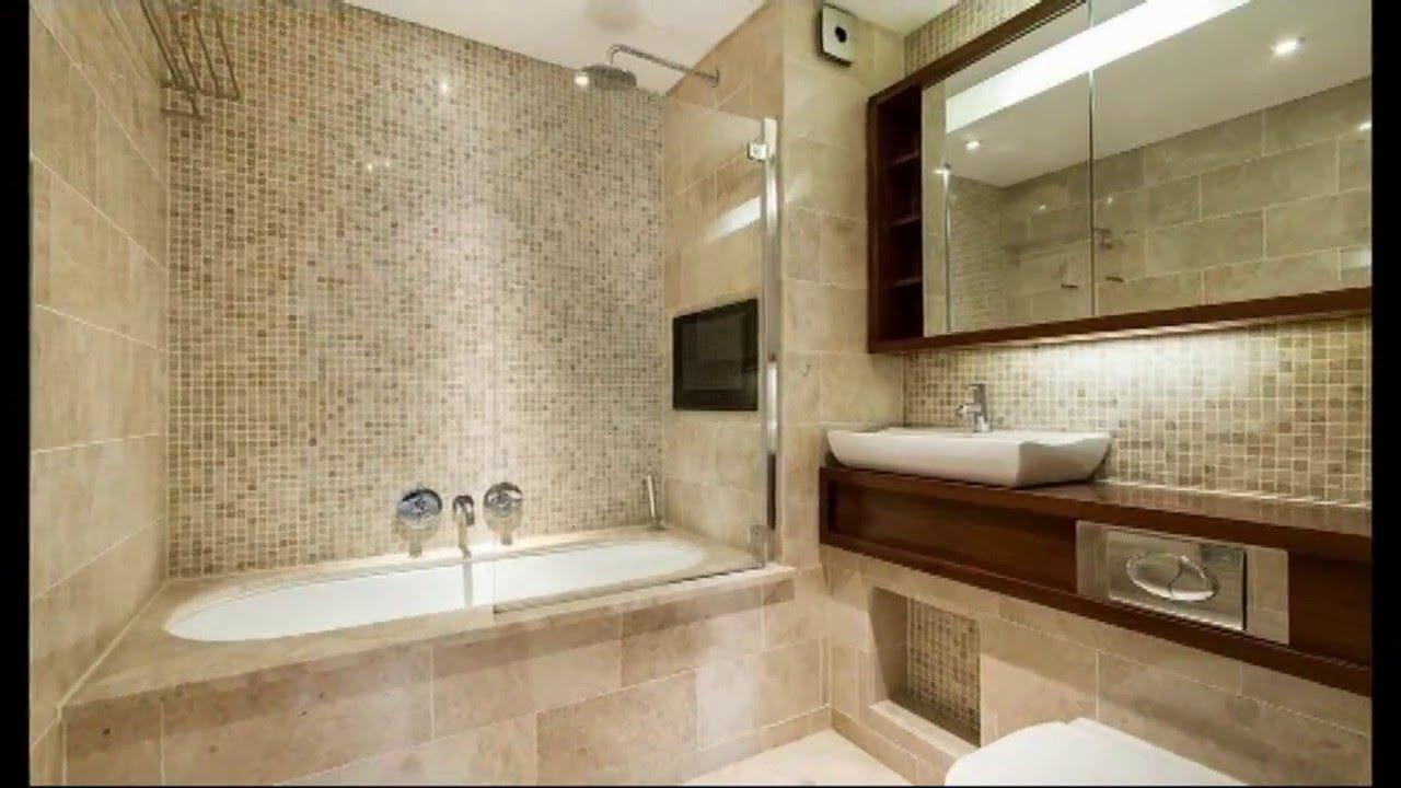Дизайн ванной комнаты плитка - YouTube