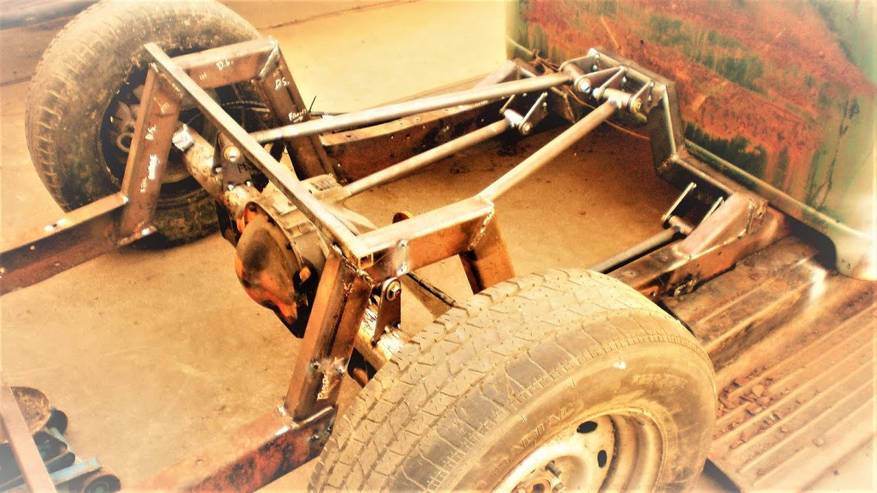 axle swap and a triangulated 4link (PART 4) 1947 ford pickup rat rod build