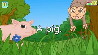 Fun English Songs - Purple Cat _  The Song Explores Color And Animal Names - GAME KIDS HD