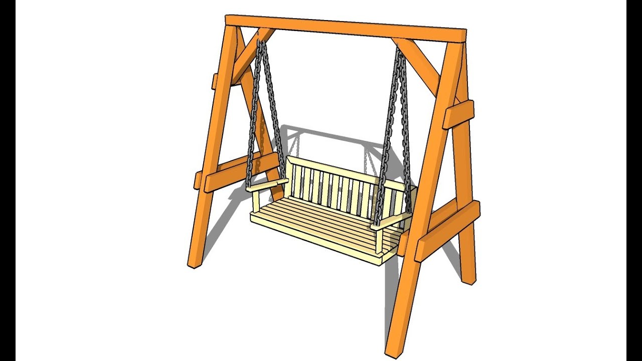 garden swing plans youtube