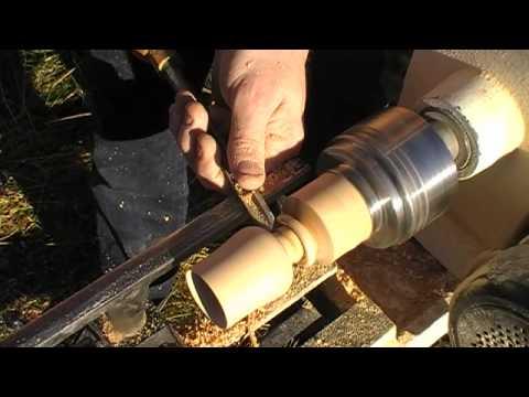 Woodturning a cognac glass #2