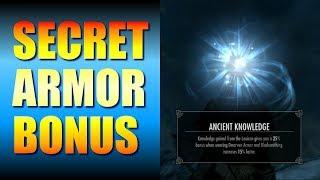 Skyrim Gameplay - Secret Armor Bonus! Ancient Knowledge at Avanchnzel (Unfathomable Depths)