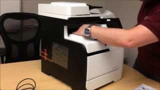 HP LaserJet 400 m475dw Printer Setup and Install