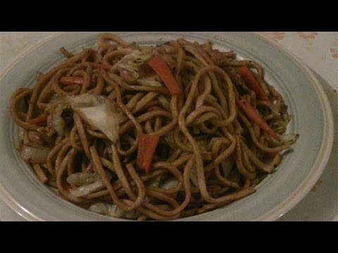 Shanghai Noodles With Chicken Stir Fry   上海粗炒  (Fast Chinese Cooking In A Wok)