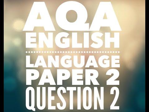 AQA GCSE English Language 2017 - Paper 1 - Section B