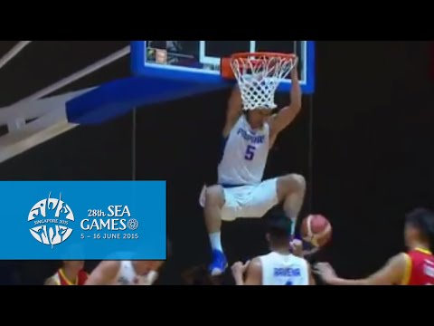 Basketball Mens Philippines vs Malaysia Highlights (Day 6)   28th SEA Games Singapore 2015