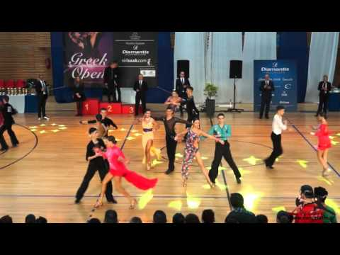 WDSF Greek Open 2015: WDSF Youth Open Latin: QuarterFinal