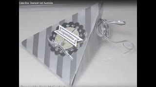 Silver Wedding Cake Box.  Stampin' Up! Australia
