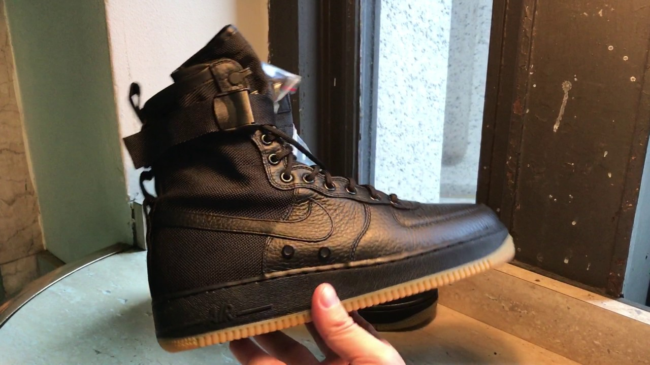 new concept 19d38 598eb Nike Special Field Air Force 1 Black Gum SF AF1 sneakers