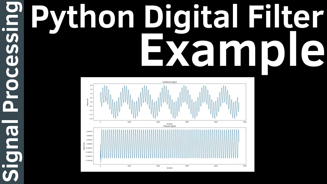 Signal Processing - 20 (How to) Create A Digital Filter in Python