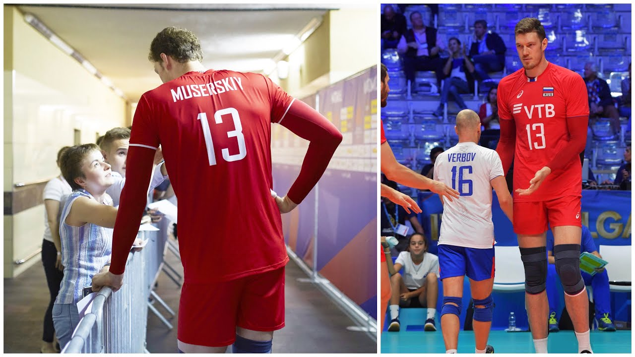 Height: 218cm | Spike: 375cm - Craziest Volleyball Actions by Dmitriy Muserskiy (HD)