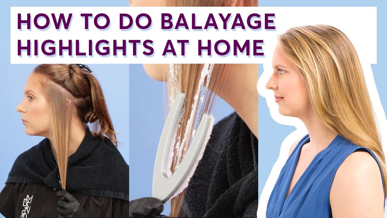 How To Do Balayage Highlights At Home Light Works Step By Step