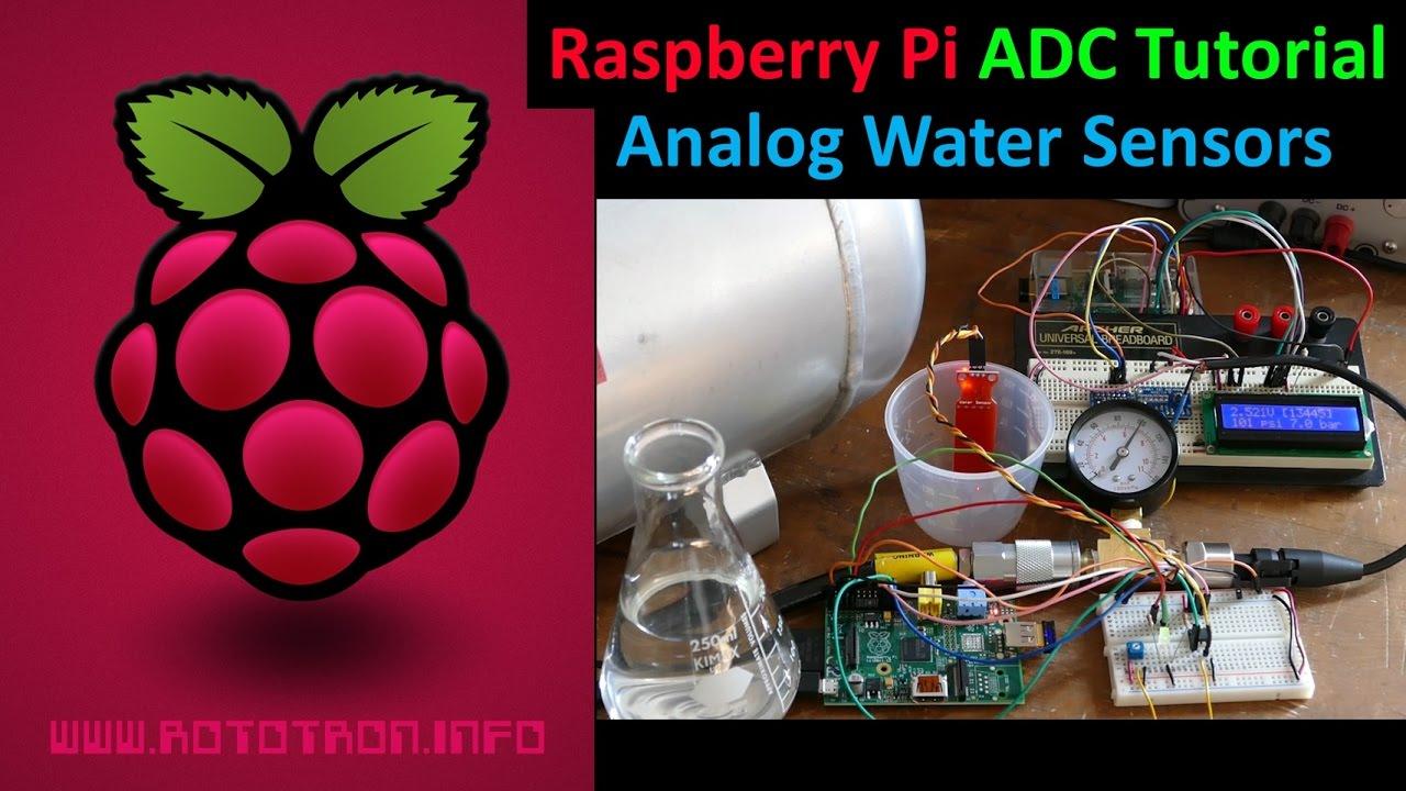 Raspberry Pi Analog Water Sensors ADC Tutorial