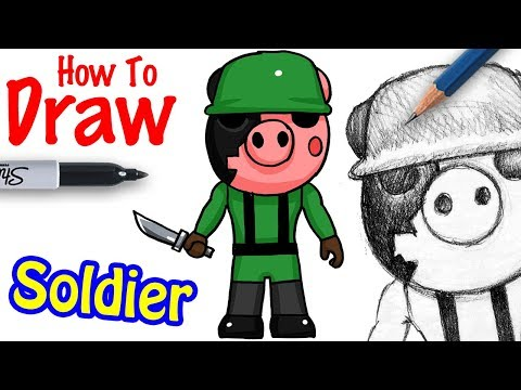 How To Draw Soldier Roblox Piggy Youtube