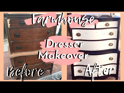 DIY Furniture Transformation | Farmhouse Dresser | DUMPSTER FLIP