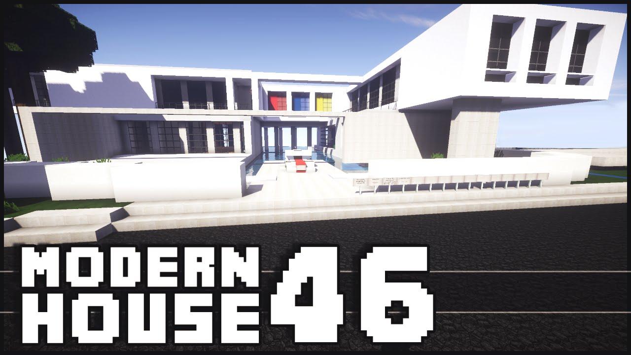 Minecraft modern house 46 youtube for Modern house 46