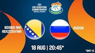 LIVE 🔴 - Bosnia and Herzegovina v Russia - Final - FIBA U16 European Championship Division B 2018