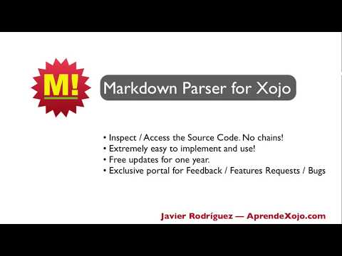 Markdown Parser for Xojo (Full Source Code)