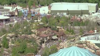 Seven Dwarfs Mine Train aerial views