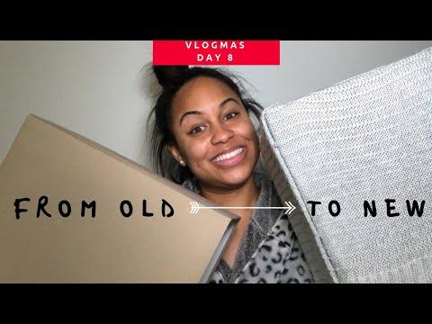 DIY SWEATER LAMP SHADE | Vlogmas Day 8