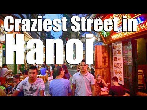 Craziest Street in Hanoi - Tạ Hiện Alley!
