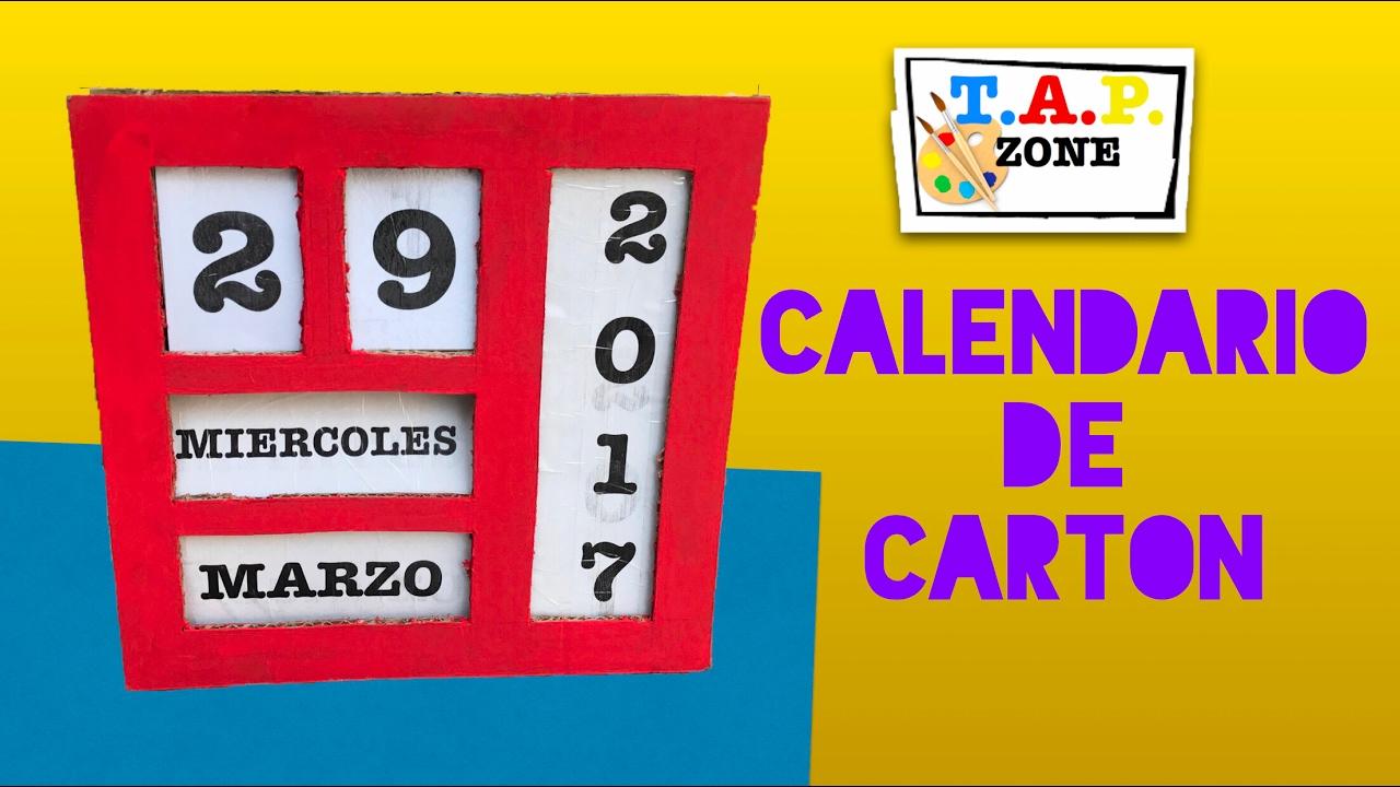 Calendario Para Ninos De Kinder.Como Hacer Un Calendario Tap Zone