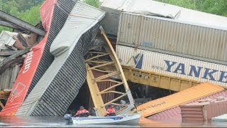 Canadian Pacific train derails after bridge collapse