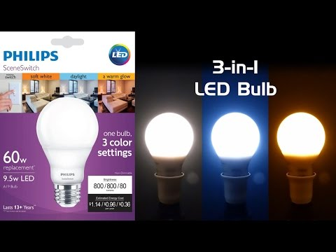 Review Philips Sceneswitch Led Bulb Three Colors Of White In One