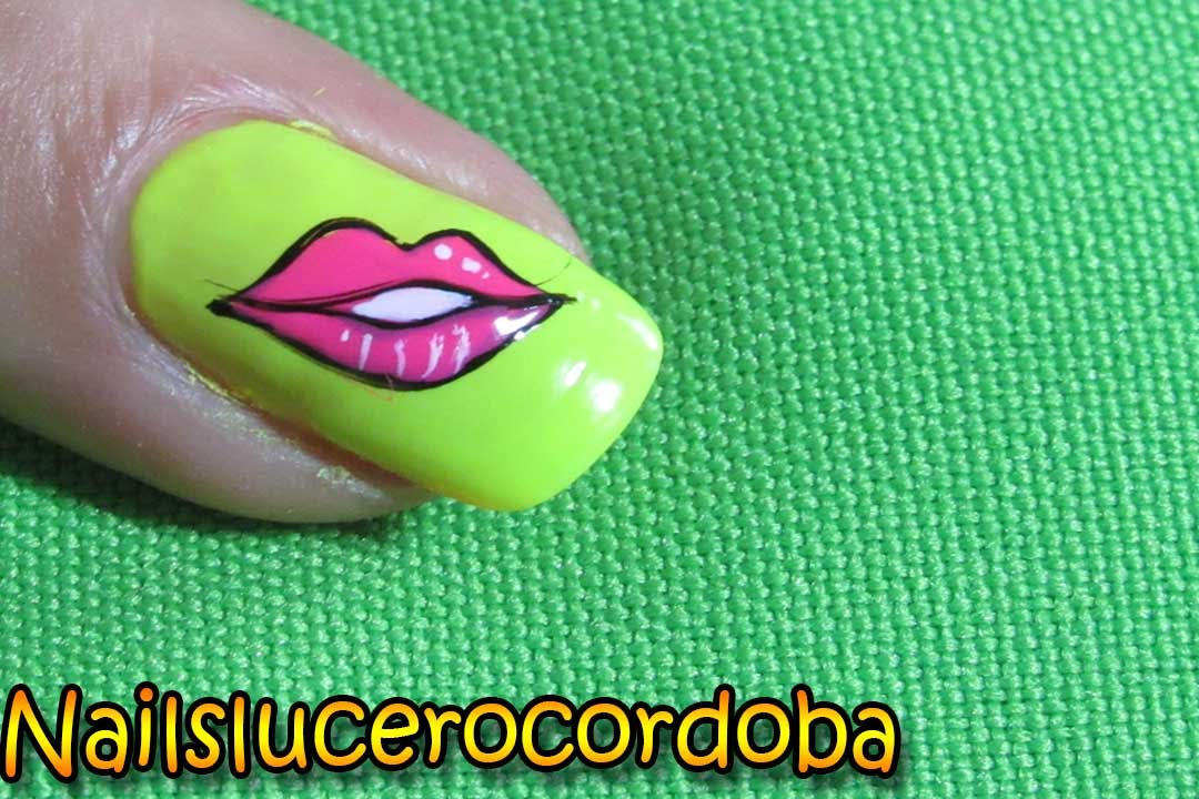 Decoracion de uñas besos - Kissed nail art -Besos ...