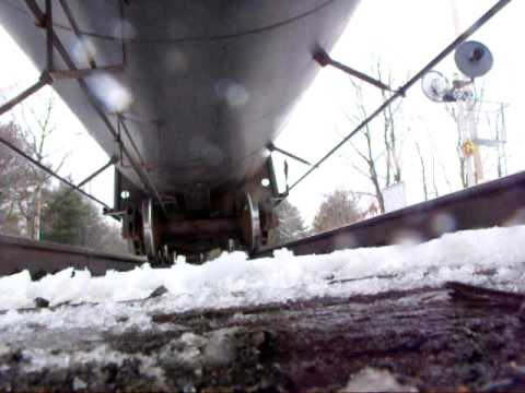 Canadian Pacific #9572 in Harpursville, NY (Track View)