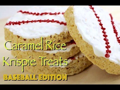 Caramel Rice Krispies Treats (Baseball Edition) - Pretty Little Bakers