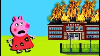 Мультики Свинка  Петта устроила пожар в школе Мультфильмы для детей на русском