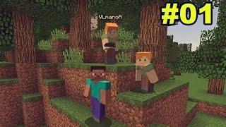 Minecraft Survival com Os Agentes #01 - Sobrevivendo a Primeira Noite!