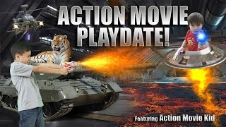 ACTION MOVIE PLAYDATE Special Effects Adventure ft Action Movie Kid