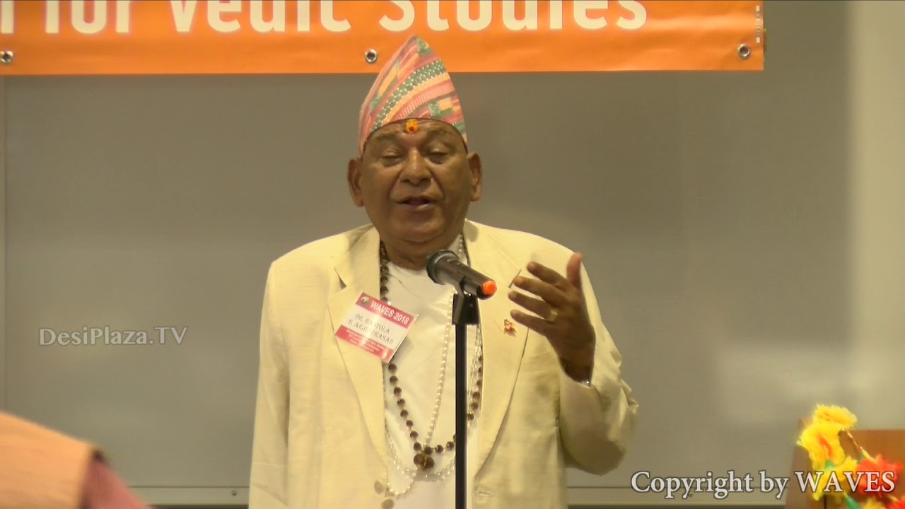 Dr. Samhitashastri  Arjunprasad  Bastola, Vedic Scholar,  at WAVES  Dallas, Texas - 2018.