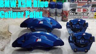 homepage tile video photo for E70 BMW X5M Brakes: Painting Estoril Blue DIY