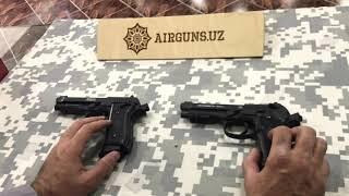 2 часть Review Сравнение Full Auto Umarex Beretta M92 A1 vs Crosman PFAM9B 4.5mm CO2 BB Airguns