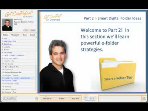 Get Control! Get Organized E-Learning Module