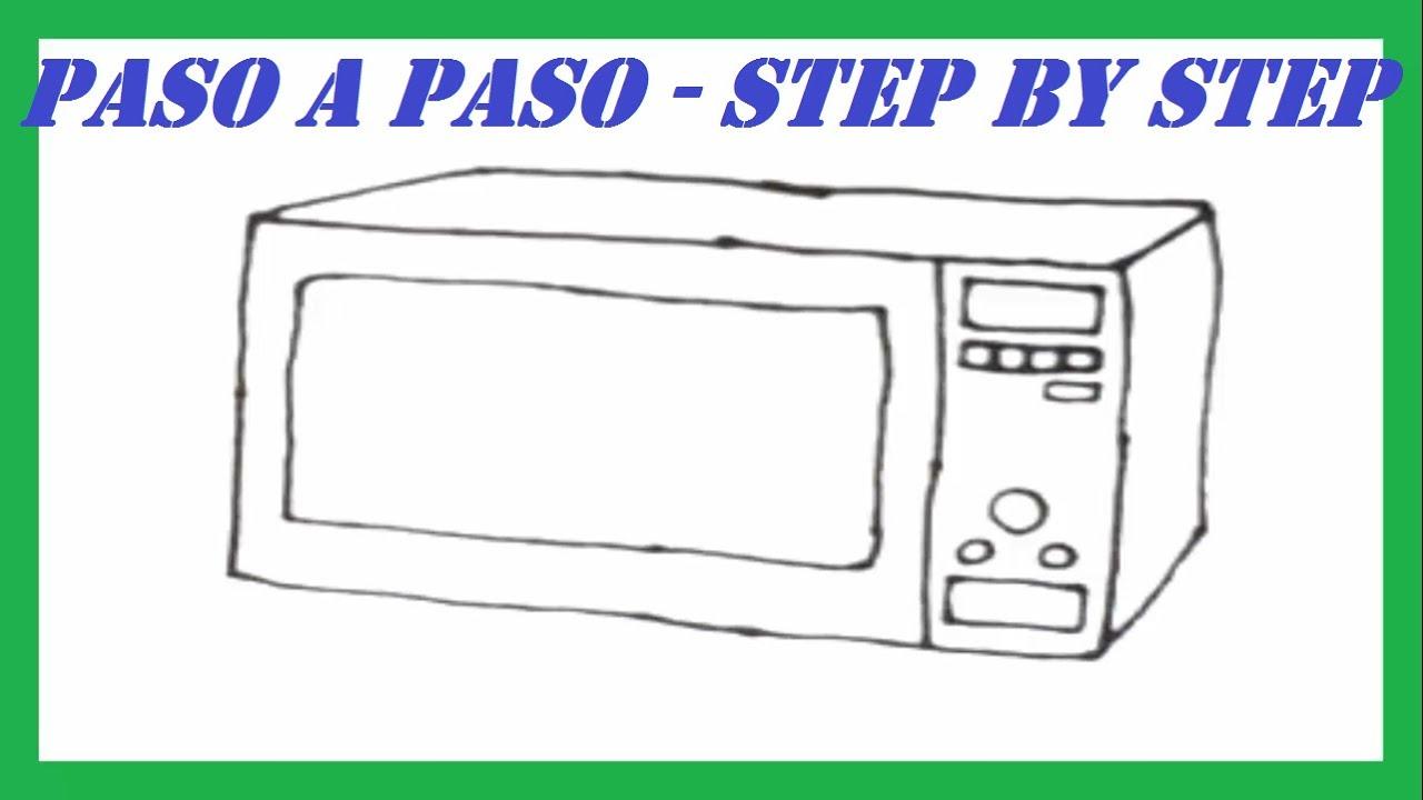 Como dibujar un microondas paso a paso l how to draw a - Programa para dibujar planos facil ...
