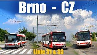 BRNO TROLLEYBUS - Linie 31 & 33  (2018)