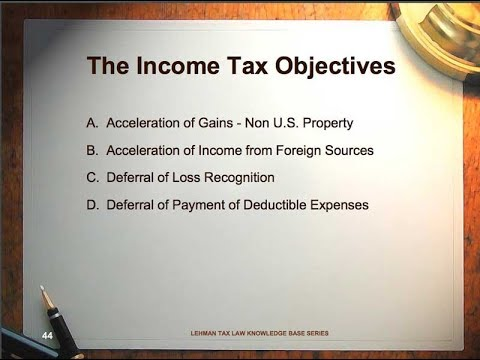 Pre Immigration Tax and U.S. Investment Planning for High Net Worth Individuals