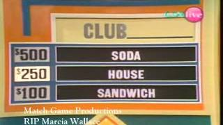 Match Game 74 (In Memory of Marcia Wallace) (First Appearance)