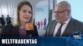 Weltfrauentag: Hazel Brugger trifft Peter Altmaier und Franziska Giffey | heute-show vom 15.03.2019