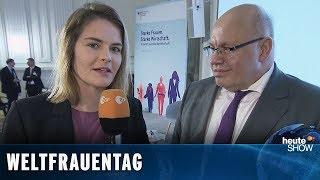 Weltfrauentag: Hazel Brugger trifft Peter Altmaier und Franziska Giffey