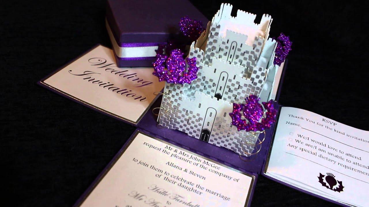 Castle Exploding Box Wedding Invitation YouTube