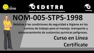 NOM-005-STPS-1998 / INTERPRETACIÓN / CURSO EN LÍNEA