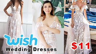 Trying on Cheap Wedding Dresses from Wish - ?? or ??