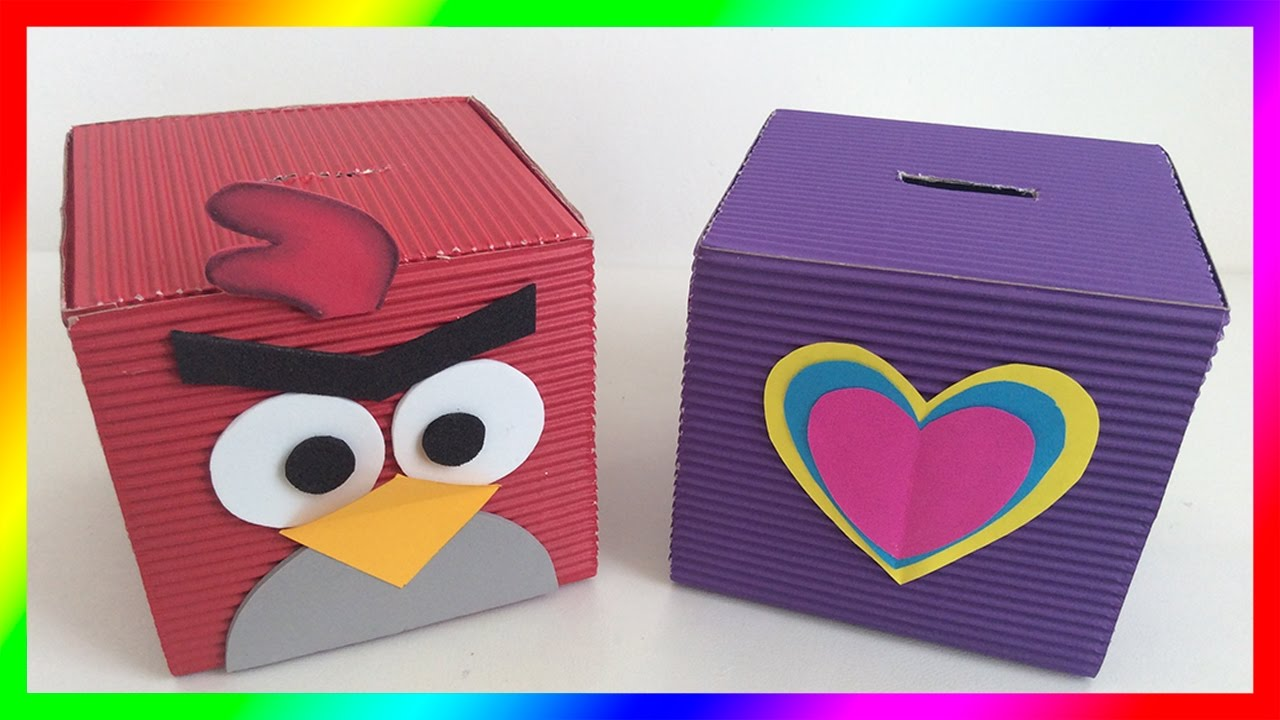 How To Make Cardboard Tops Cardboard Crafts Ideas For Childs Day Alcancias