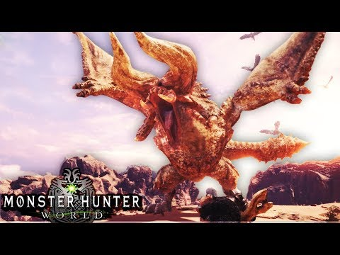 Monster Hunter World Beta - IMPOSSIBLE! HARDEST BONUS MONSTER IN BETA! DIABLOS! (4) - Gameplay