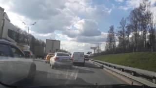 Авария на МКАДе 25.04.2017 98 км